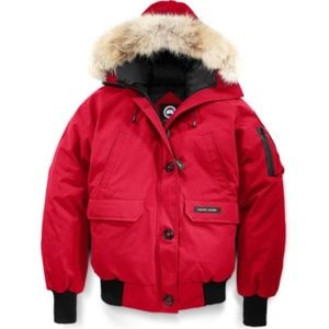 Canada Goose Red Chilliwack Bomber Size S
